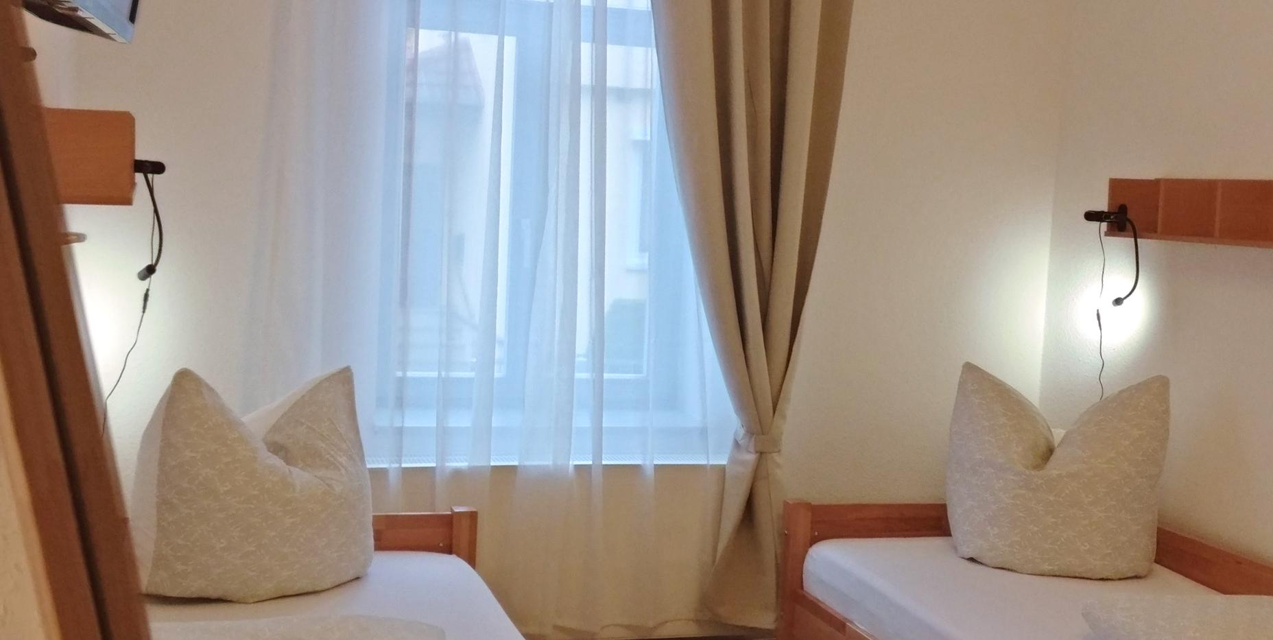 Einblick Zweibettzimmer