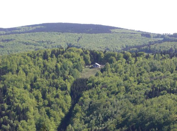 Blick vom Alexanderturm zur Bermerhütte
