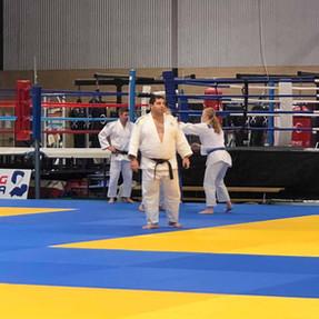 Sensei Stephanos runs the traning session