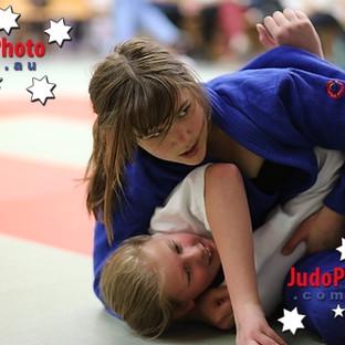 Girls competing