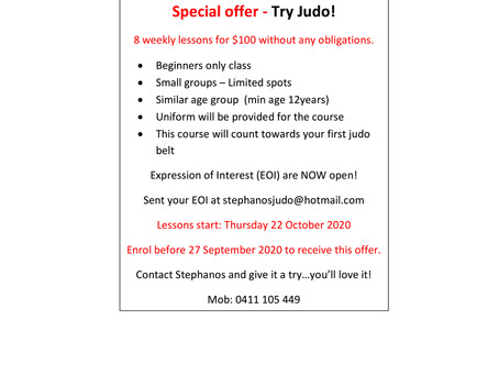 Special offer for Beginners classes