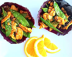 Orange Chicken Sesame Wraps