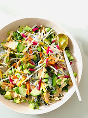 Spicy Rainbow Shirataki Noodle Bowl