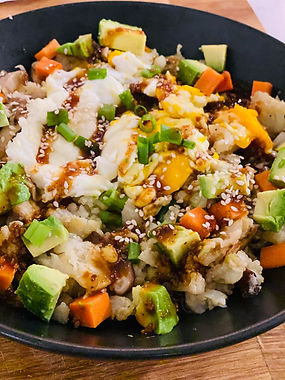 Korean BBQ Cauliflower Fried Rice