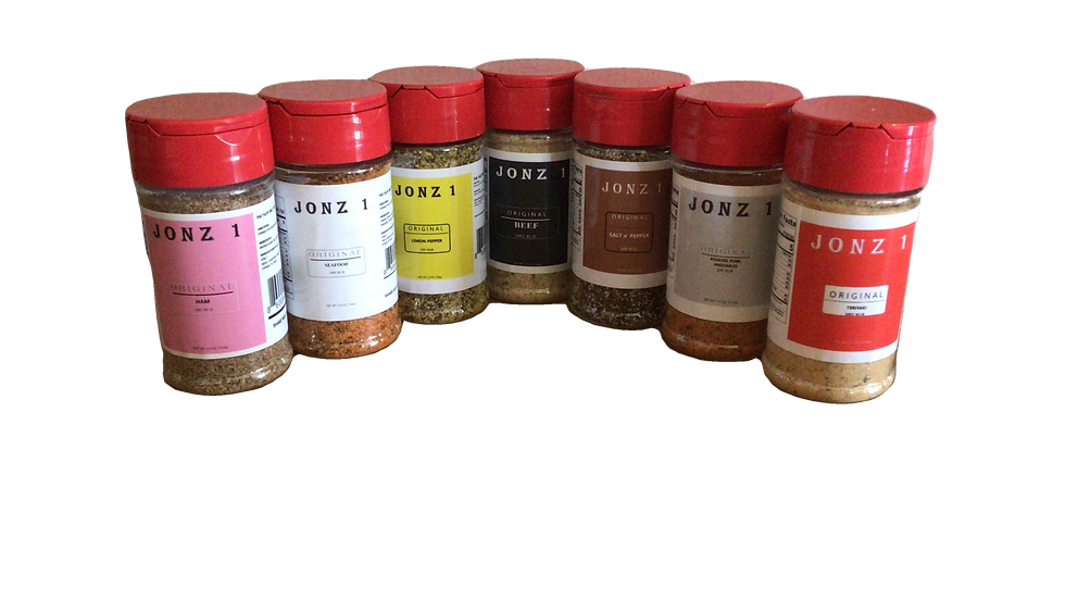 JONZ 1 Original Dry Rubs 7 Pack