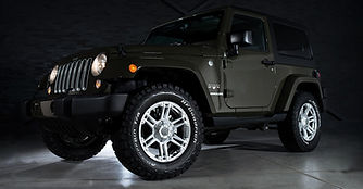 Jeep Wrangler With Custom Wheels