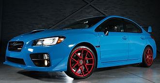 Subaru Impreza With Custom Wheels