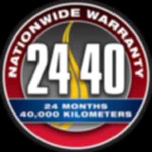 24 month, 40,000km Warranty