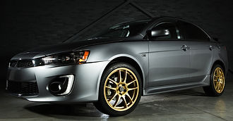 Mitsubishi Lancer With Custom Wheels