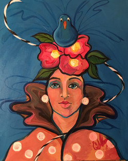 Woman With a Bird on Her Head