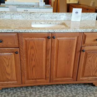 Oak Vanity with Granite Top