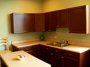 Cherry Kitchen with Flat Panel Doors