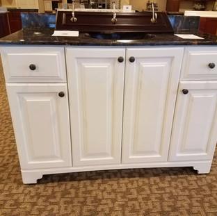 White Vanity Raised Panel Doors