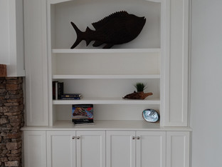 White Bookcase with Savannah Doors