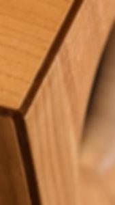 Aristoxène CLN6. Détail enceinte large bande en bois massif