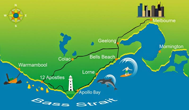 great-ocean-road-tour-map