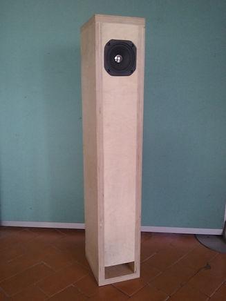 Enceinte large bande de format colonne construite en multipli pour le haut-parleur large bande EMS LB5