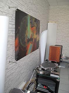 Exemple de panneau de traitement acoustique en situation.