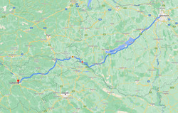 Budapest to Ljubijana Route
