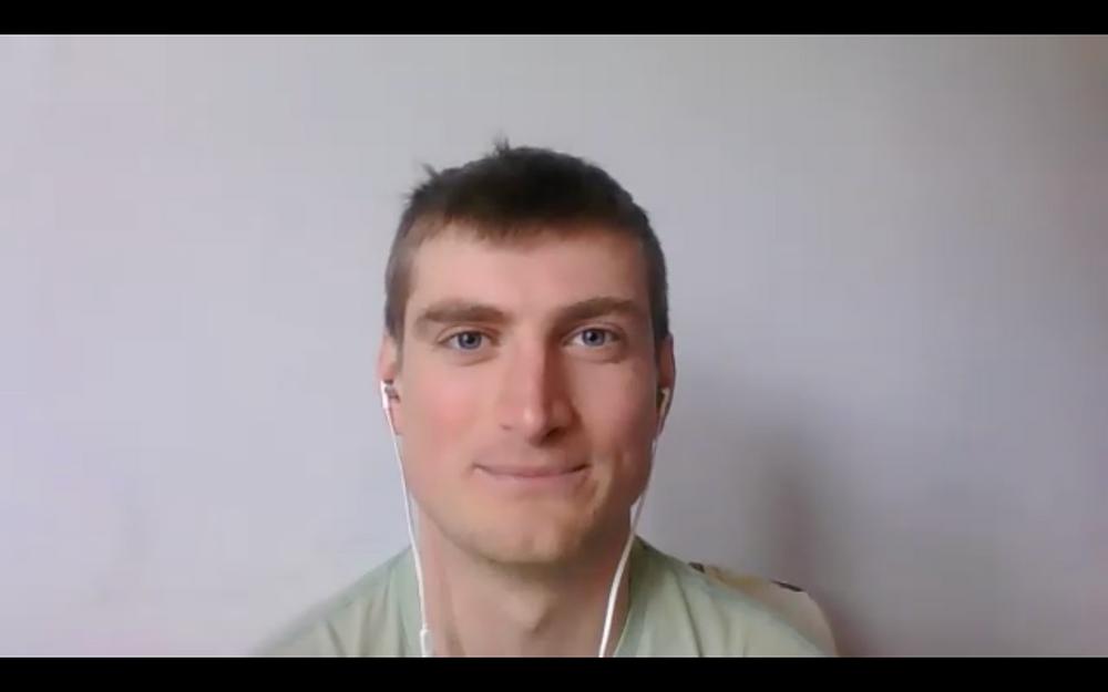 Volunteer During Online Coaching Session Facing Camera