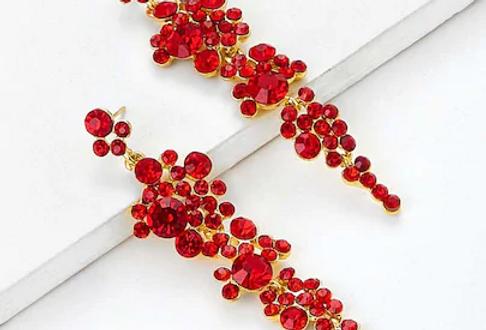 'Lady in Red' Earrings