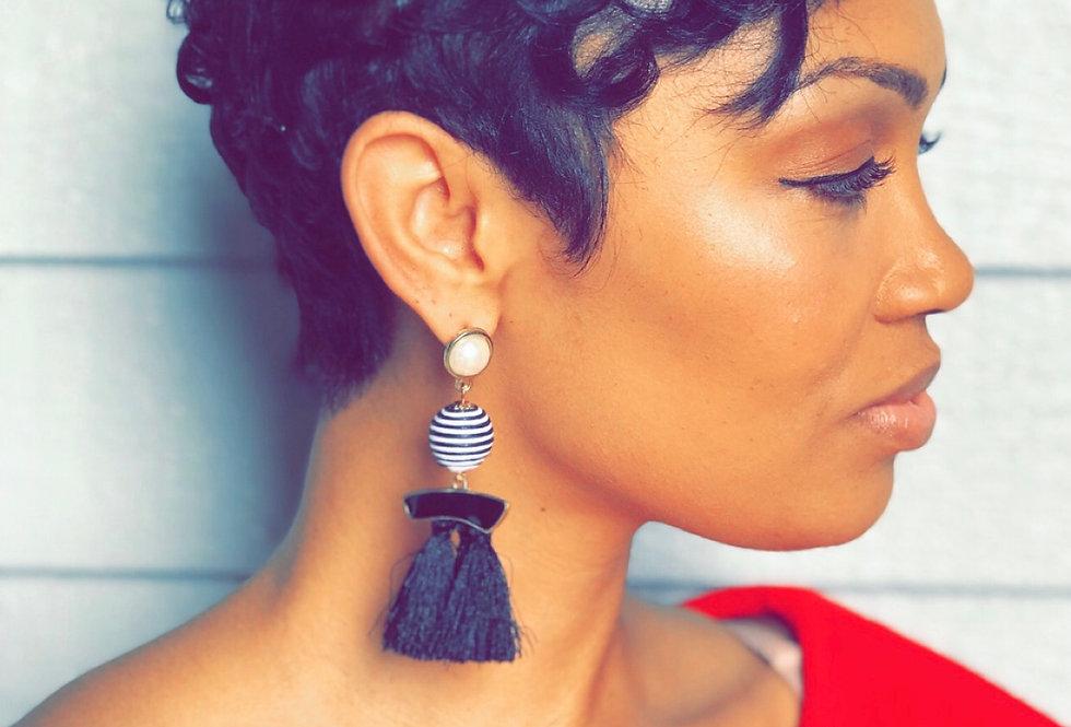 'Stripe Me Baby' Earrings