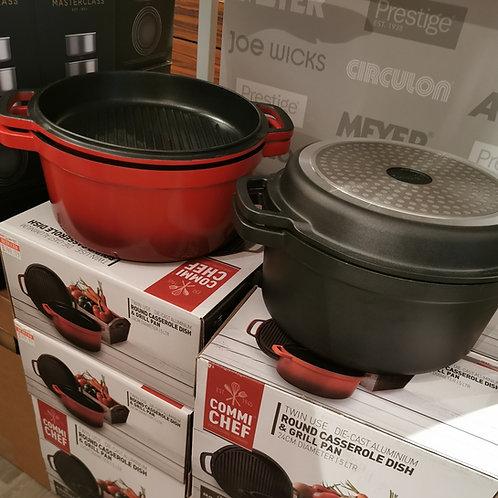 Grunwerg Commi Chef Casserole Dish & Grill Pan (24cm)