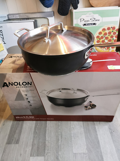 Anolon Authority Hard Anodised Covered Chef's Pan 28cm
