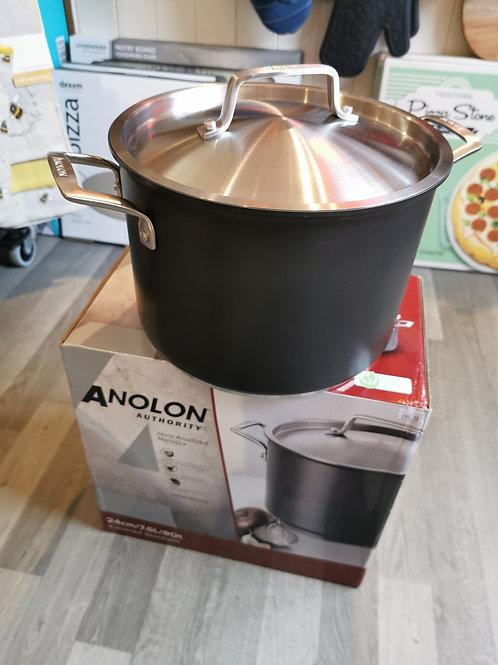 Anolon Authority Hard Anodised Stock Pot 24cm