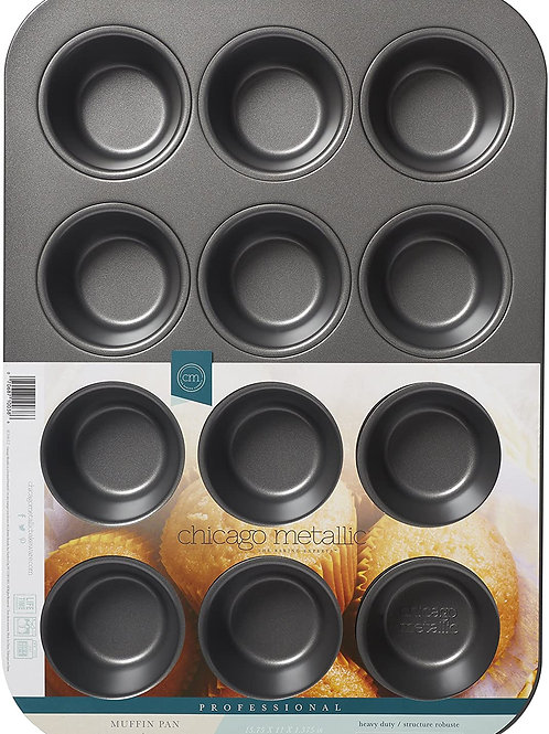 Chicago Metallic Professional 12-Cup Non-Stick Muffin Pan