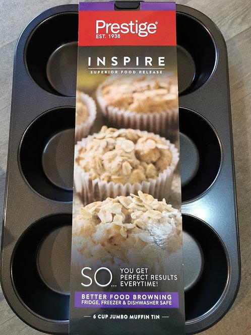Prestige Inspire Non-Stick 6 Cup Jumbo Muffin Tin