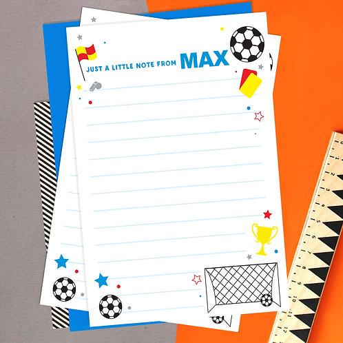 Personalised Football Writing Set