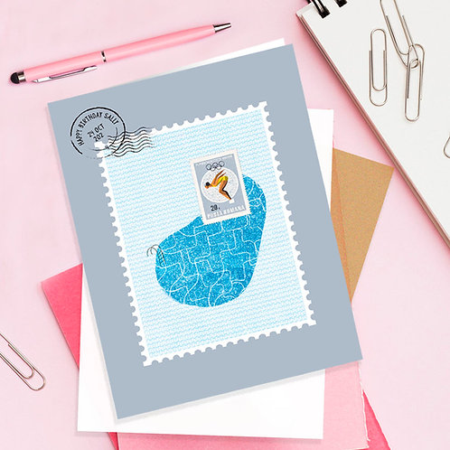 Personalised Swim Stamp Card