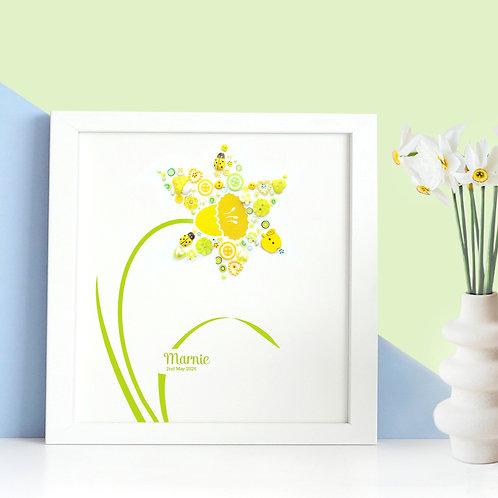 Personalised Button Daffodil