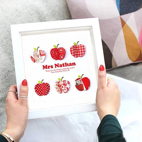 Personalised Teacher Paper Apples