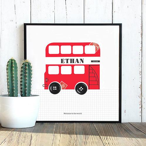 Personalised London Bus Print