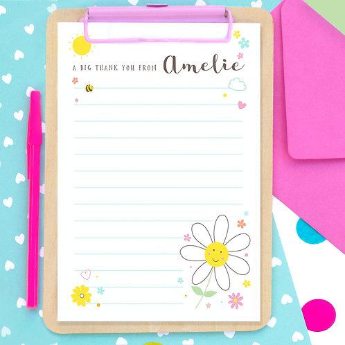 Personalised Daisy Writing Set