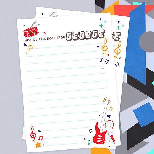 Personalised Music Writing Set