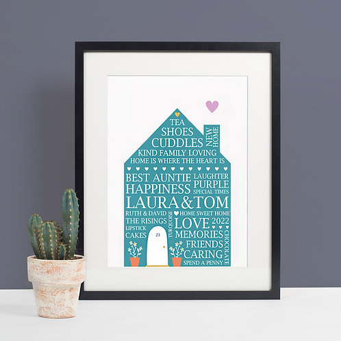 New Home House Print