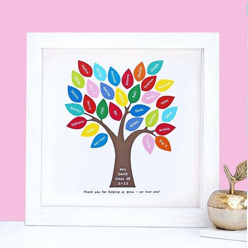 Personalised Teacher Tree Print