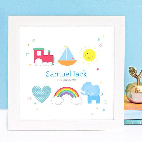 Personalised Baby Boy Print