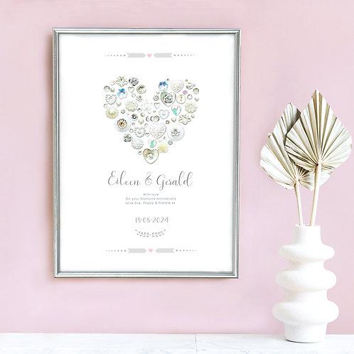 Personalised Diamond Anniversary Print