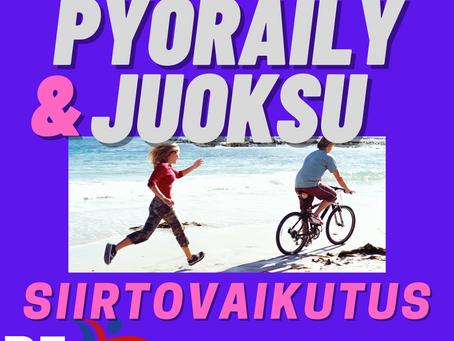 Juoksun ja pyöräilyn siirtovaikutus toisiinsa