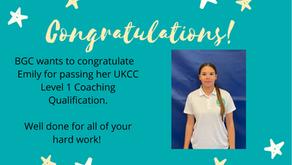 Congratulations Emily!