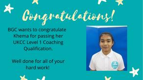 Congratulations to Khema!