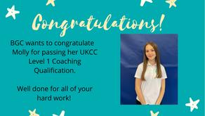Congratulations Molly!