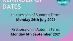 End of term dates!