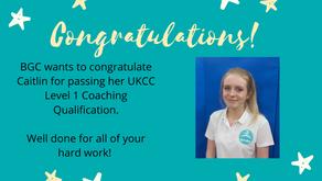 Congratulations to Caitlin!