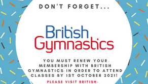 British Gymnastics Membership Renewal