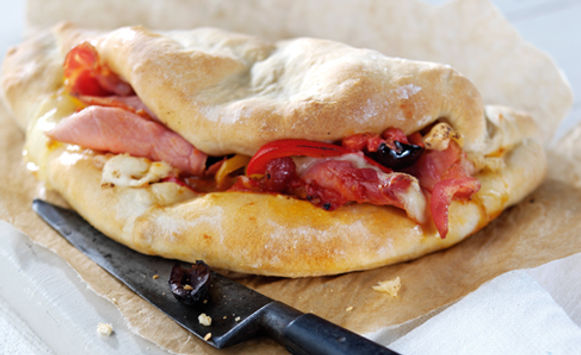 Bacon Calzone
